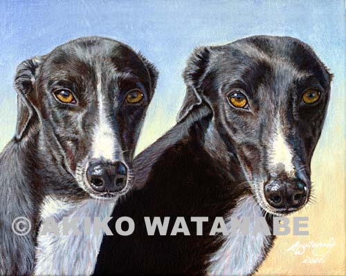 The Sisters (Greyhound art print)