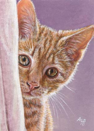 Ginger Kitten (ACEO print of Orange Tabby Ginger Cat)